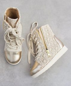 d1c538803122 Another great find on  zulily! Joyfolie Gold Mila Sneaker  amp  Hair Clip -