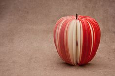 Amazing!  Who has the patience to cut an apple like this?!?  *lol*