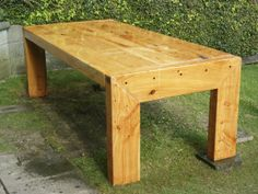 Large macrocarpa sleeper table