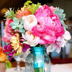 Bright bouquet #flowers #forthehome