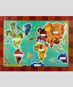 Discovery kids world map classroom pinterest world map print by children inspire design zulilyfinds gumiabroncs Image collections