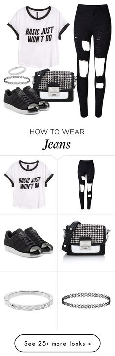 """""""Untitled #1547"""" by anarita11 on Polyvore featuring H&M, Karl Lagerfeld, adidas Originals, Michael Kors, women's clothing, women, female, woman, misses and juniors"""