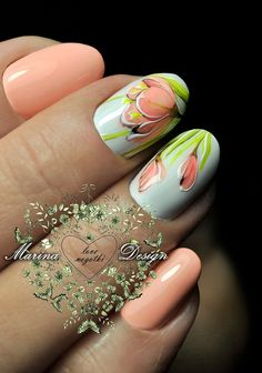 Фотография Spring Nail Art, Spring Nails, Gel Nail Art, Nail Manicure, French Acrylic Nails, Floral Nail Art, Minimalist Nails, Beautiful Nail Designs, Fabulous Nails