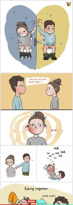 Hilariously Cute Relationship Comics That Will Make Your Day - bemethis Cartoon Shows, Cute Cartoon, Manado, Funny Cute, Hilarious, My Cute Love, Relationship Comics, Great Memes, Sketch Inspiration