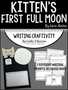"""This writing craftivity is a fun, simple activity to supplement the book """"Kitten's First Full Moon"""" by Kevin Henkes."""