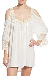 Surf Gypsy 'Fringe' Crochet Trim Cover-Up available at Nordstrom.