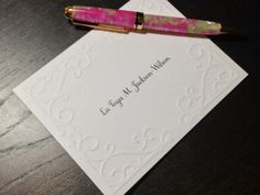 Personalized Embossed Note Cards by Soirée Paper | Hatch.co
