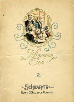 Schrafft's1929 Afternoon Tea Menu @restaurant-ingthroughhistory