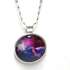 Purple fire necklace Purple fire pendant necklace 18 inch chain Jewelry Necklaces