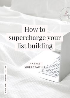 How to supercharge your list building (+ free video training) — Ashley Srokosz Branding Your Business, Business Tips, Online Business, Content Marketing Strategy, Inbound Marketing, Media Marketing, Like Facebook, Email List, Make More Money