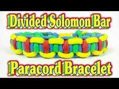 How To Make A Paracord Divided Solomon Bar in Autism Awareness Colors - YouTube