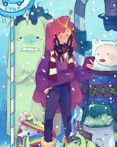 """Disaster Wesbian Isis on Instagram: """"SEASONS GREASONS and happy 2021 from the future 🎉🎉🎉 Hope everyone is nice and bundled up in the cold b/c it's sweater weather, baybee!!!!…"""" Sweater Weather, Adventure Time, Yuri, Seasons, Cold, Future, Nice, Happy, Sweaters"""