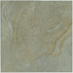 Alhambra Gris Ceramic 18 x 18 in. $4.49 a SF. This tile best represents a Natural stone like slate or Quartzite.