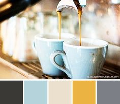 Color Palette for a coffee shop | first drink for you in the morning? For me it's almost always coffee ...
