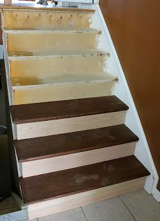 How To Install Hardwood Stair Treads And Risers | Home Renovation Diy |  Pinterest | Hardwood Stairs, Stair Treads And Stairs