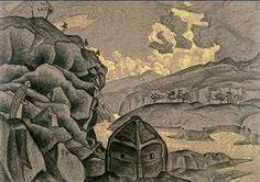 """Studie van scène ontwerp voor """"Peer Gynt"""" - Nicholas Roerich"""