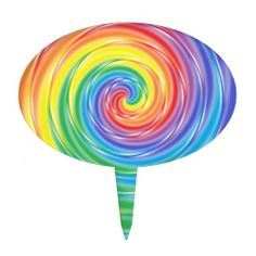 Spinning Rainbow Cake Topper