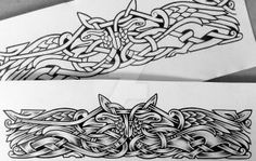 Two Ravens armband by Tattoo-Design