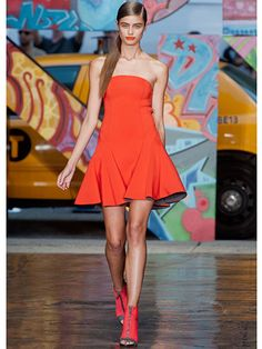 Spring 2014 Bright Solid Colors Runway