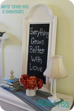 Mirror Turned Into A Chalkboard