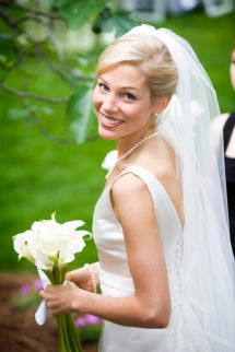 classic updo with veil