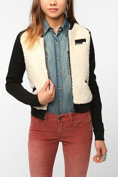 This blustery day is making me want a cozy jacket...this varsity style seems to fit the bill!