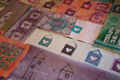 create your own fabric. a new take on the scrap quilt.  Sketchbook Challenge Blog Hop ~ Kristin La Flamme