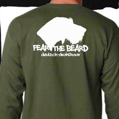 DEUTSCH DRAHTHAAR  Fear the Beard Military Green long by FowlZone