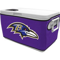Baltimore Raven's cooler cover...I have one and it's awesome for tailgating; makes old cooler look like new. PURPLE PRIDE!!!