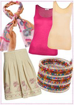 Outfit in Pink und Creme by Brigitte von Boch #bevonboch