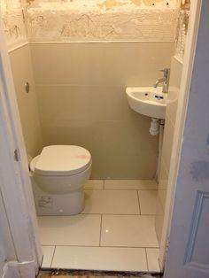 small bathroom design for elderly Bathroom Under Stairs, Tiny Bathrooms, Tiny House Bathroom, Bathroom Toilets, Small Bathroom, Small Downstairs Toilet, Small Toilet Room, Bathroom Interior, Modern Bathroom