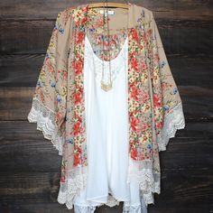 floral print kimono jacket boho bohemian indie clothes – shop hearts