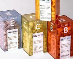 Vitamin packaging by Morrow McKenzie Glass Packaging, Beverage Packaging, Pretty Packaging, Brand Packaging, Product Packaging Design, Custom Packaging Boxes, Coffee Packaging, Design Package, Label Design