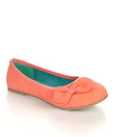 Love this Coral Paro Flat by Jelly Beans on #zulily! #zulilyfinds