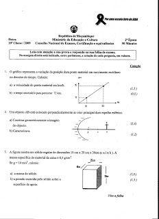 Nélia Doce - Exames: Exames da 10ª Classe