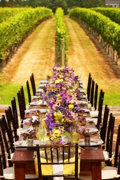 reception in the vineyard