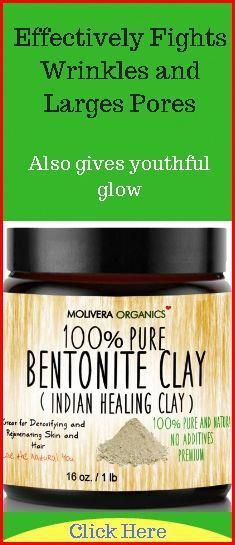 Bentonite clay for natural face mask for wrinkles, fine lines, large pores, whiteheads, blackheads, and acne. #FaceMaskAcne #CharcoalMaskPeel Turmeric Face Mask Acne, Acne Face Mask, Diy Face Mask, Face Face, Argile Bentonite, Bentonite Clay, Charcoal Mask Benefits, Indian Healing Clay, Face Cream For Wrinkles