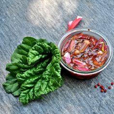 Rabarber kompot med rosa peber
