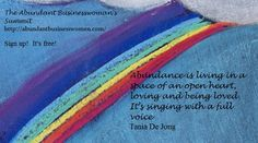 Abundance Quote, Tania De Jong From the Abundant Businesswoman's Summit