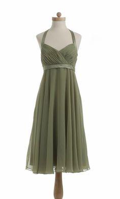 Short Sweetheart Chiffon Taffeta Dark Green Sample of Bridesmaid Dress