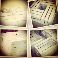 Reciclando.... Tavolino con cassette di legno