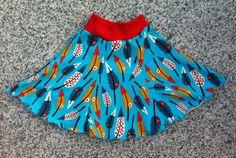 Kinderrock, Teller-Rock, Gr. 104/11, Federn, Pluma von kleine Kuschelrobbe auf DaWanda.com