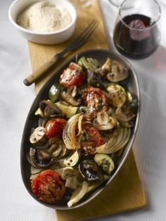 Oven Roasted Mushroom and Vegetable Salad | Mushroom Info