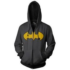 Batman Logo Men's Zip Hooded Sweatshirt,:$35.61 - $54.99