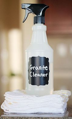 Homemade Granite Cleaner - tried this today and I was impressed! So easy to make, it's all stuff you would already have on hand and it made my counters really shine!