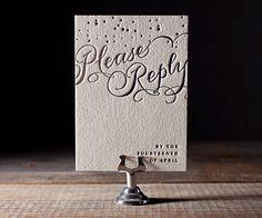 Letterpress Wedding Invitations | Gilded Romance Design | Bella Figura Letterpress