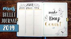 Umzug in ein neues Bullet Journal! Bullet Journal setup 2019. Bullet Journal Lists, Bullet Journal Inspo, Printable Stickers, Printable Planner, Bujo, Creative Journal, Journal Ideas, To Strive, Planner Inserts