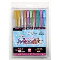 Sakura Gelly Roll Metallic Medium Point Pen Set, 10-Pack