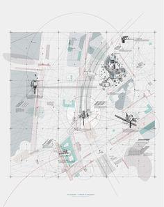 Curating an Egalitarian Territory II - Sayan Skandarajah Architecture Mapping, Paper Architecture, Architecture Graphics, Architecture Drawings, Architecture Portfolio, Landscape Architecture, Landscape Design, Urban Analysis, Site Analysis