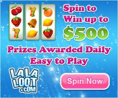 Spin for FREE and WIN $500 Instantly